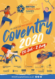 Westfield Health British Transplant Games Coventry 2020 – Registration NOW OPEN!